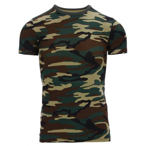 Børne T-shirt Woodland camouflage