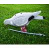 Pigeon decoy eating Fully Flocked