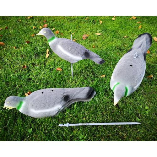 Lokkedue med Flock Skaller 5 styk