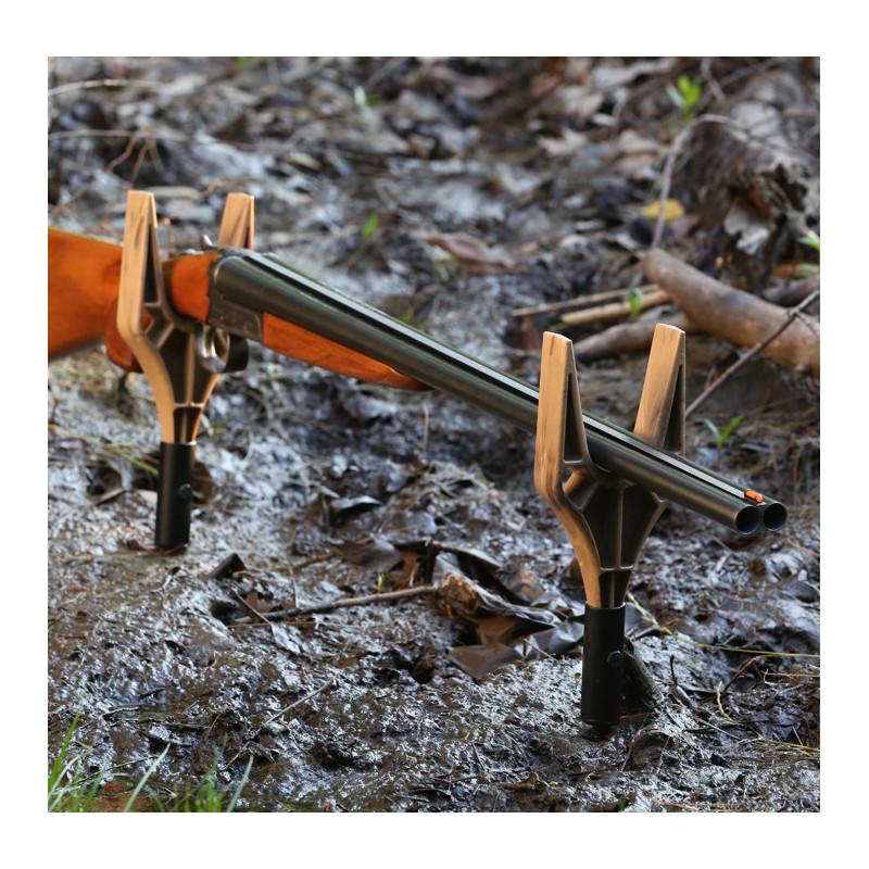 SRB geværholder 2 styk brun