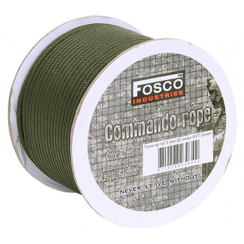 Utility rope on roll 3 mm 60 mtr